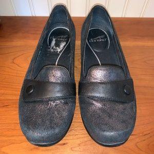 Dansko Olena Black Shimmer Shoe 39